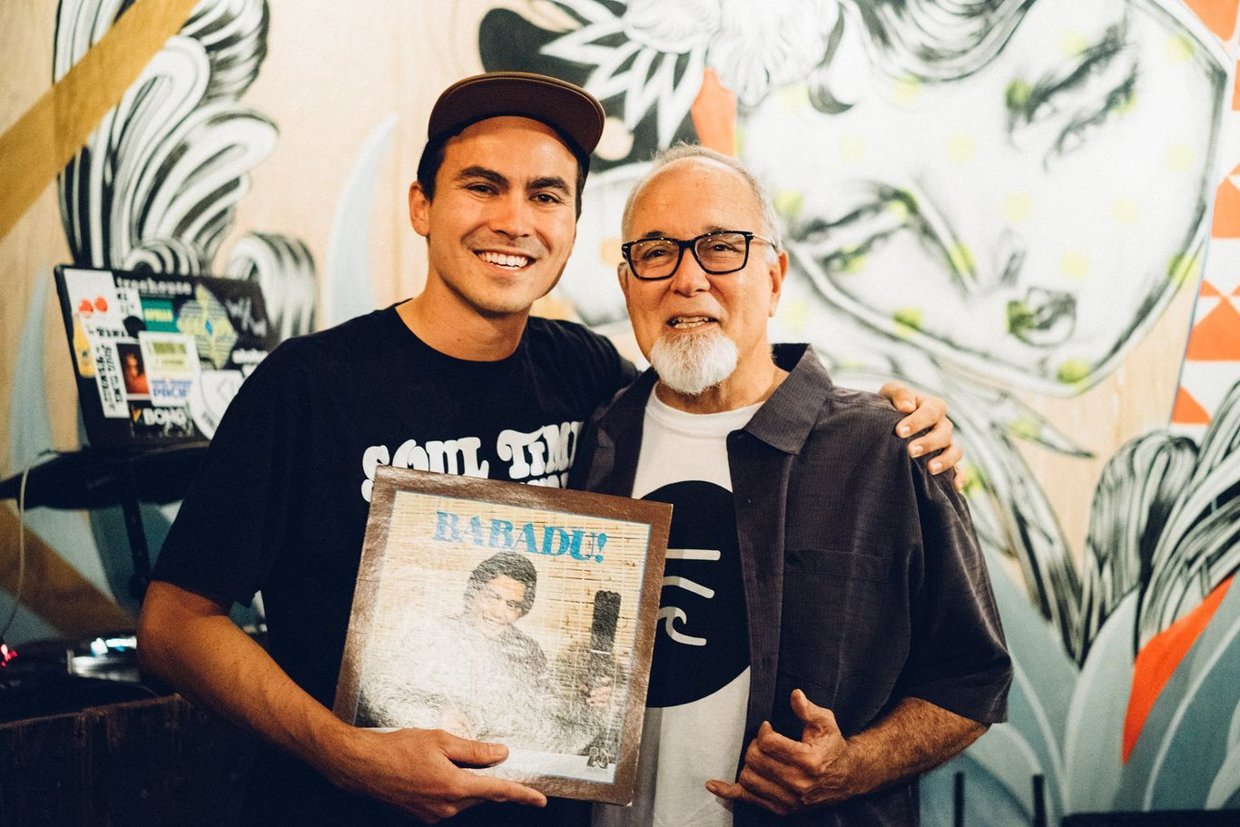 Aloha Got Soul's Roger Bong (left) with composer Chucky Souza (right)