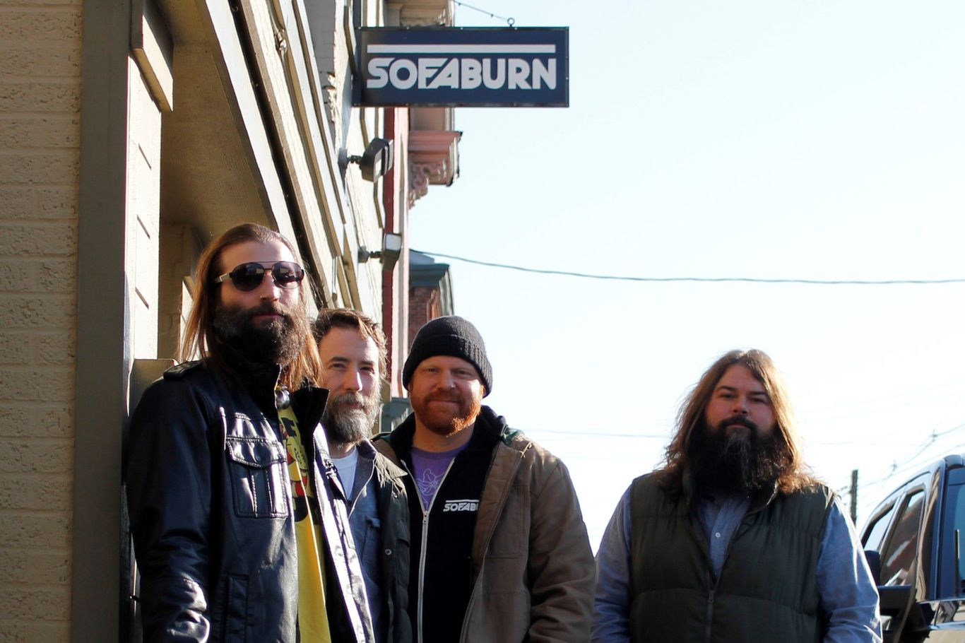Chris Mueller, founder of SofaBurn (third from the left)